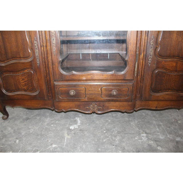 19th Century French Country Oak Dessert Buffet For Sale - Image 4 of 7