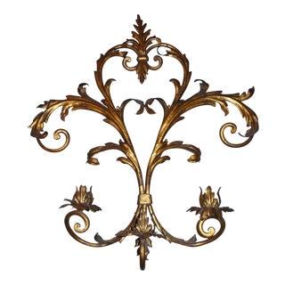 Art Nouveau Golden Wall Sconce