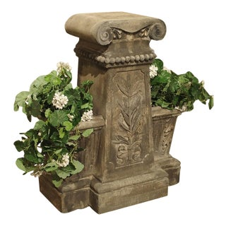 Reconstituted Stone Jardiniere From France, Circa 1880 For Sale