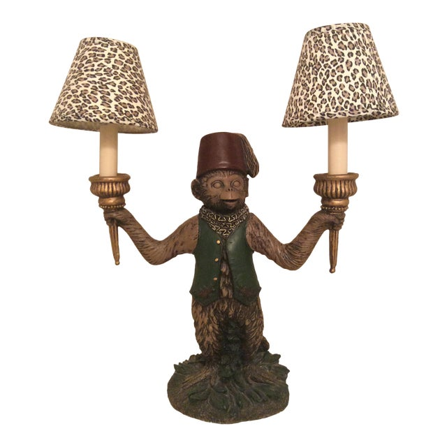 Bellhop butler monkey chandelier with small leopard lamp shades bellhop butler monkey chandelier with small leopard lamp shades aloadofball Gallery