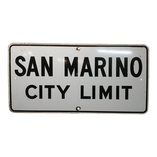 1930s San Marino City Limit For Sale