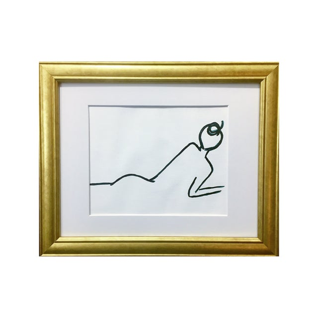 Abstract Laying Female II Mien + Movement Series by Lindsey Weicht For Sale - Image 3 of 6