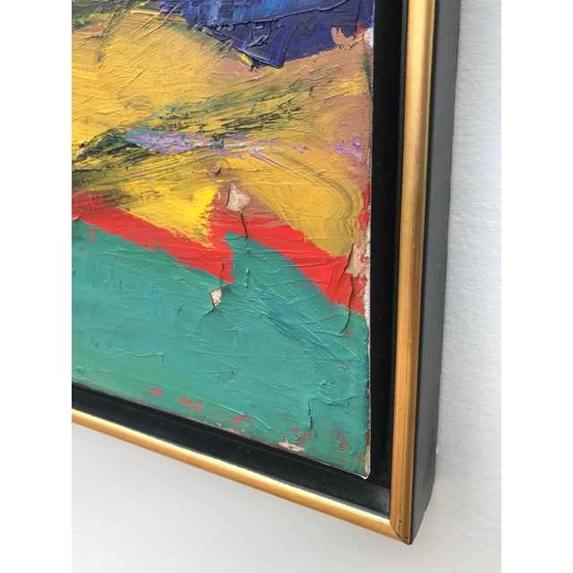 1960s Sublime Modern Abstract Painting For Sale - Image 5 of 13