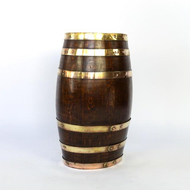 English English Brass Bound Oak Barrel, Circa 1890 For Sale - Image 3 of 7