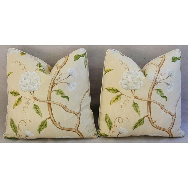 Designer Cowtan & Tout Snow Tree Linen Pillows - A Pair For Sale - Image 5 of 6