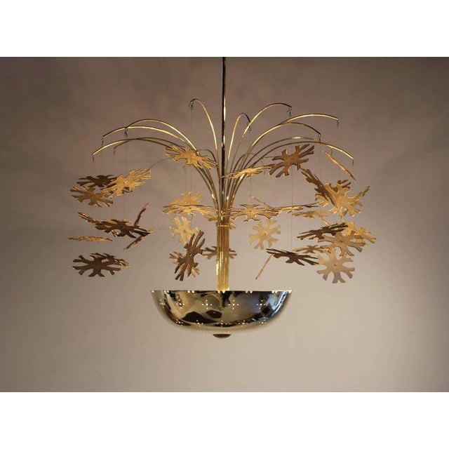 Mid-Century Modern Magnificent Paavo Tynell Snowflake Chandelier For Sale - Image 3 of 10