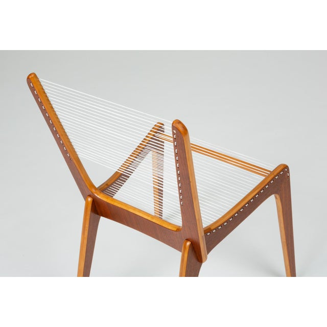 Pair of Canadian Modernist Cord Chairs by Jacques Guillon For Sale - Image 11 of 13