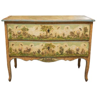 19th Century Venetian Laca Povera Commode For Sale