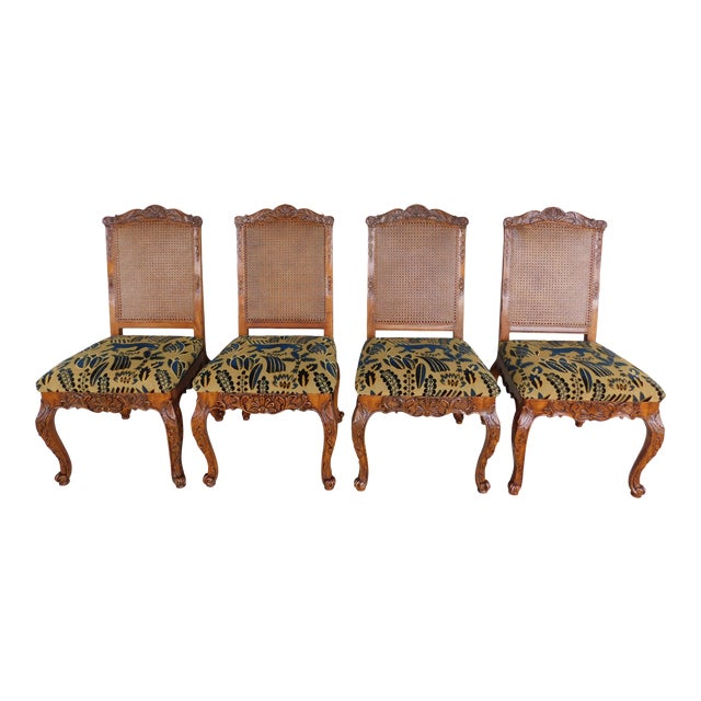 Lineage Furnishing Louis XV Style Dining Side Chairs - Set of 4 For Sale