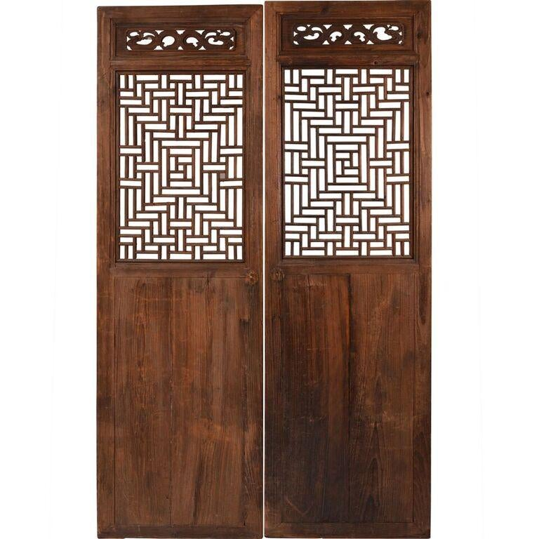 Vintage Chinese Fretwork Panels - A Pair - Image 7 of 7  sc 1 st  Chairish & Vintage Chinese Fretwork Panels - A Pair | Chairish