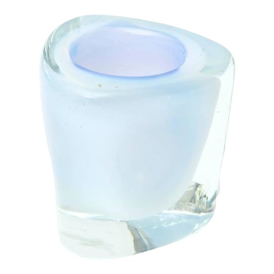Italian Murano Opalescent Sommerso Glass Vessel/Small Vase For Sale