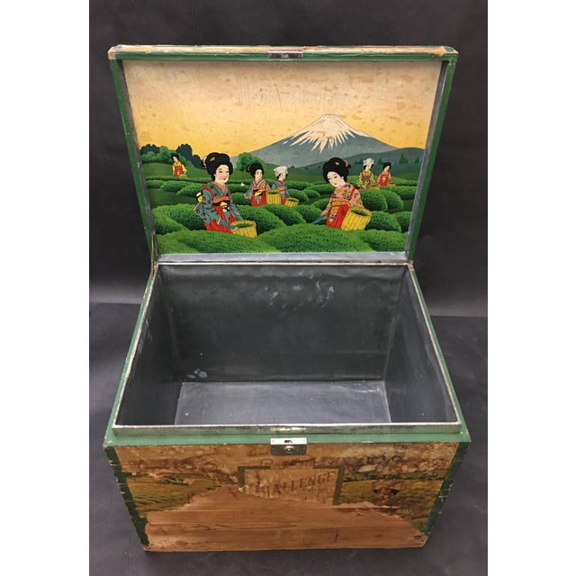 Black 20th Century Japanese Tin Lined Tea Crate For Sale - Image 8 of 8