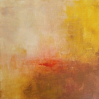 Warm Colors Yellow Space Original Abstract Art Painting For Sale