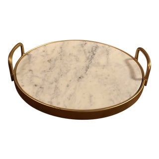 Round Gold Marble Tray For Sale