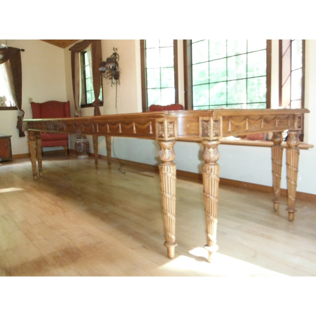 Century Furniture Traditional Carved Dining Table - Image 2 of 7