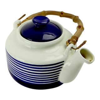 1960s Kobalt Tea Pot by Karin Bjorquist for Gustavsberg, Sweden For Sale