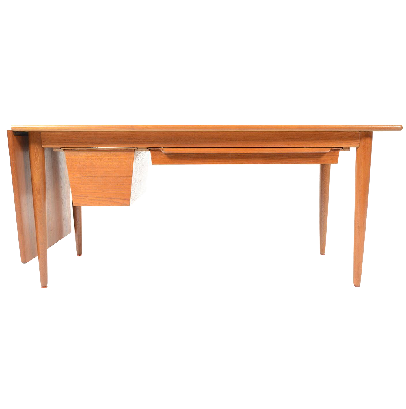 Danish Modern Drop Leaf Coffee Table | Chairish