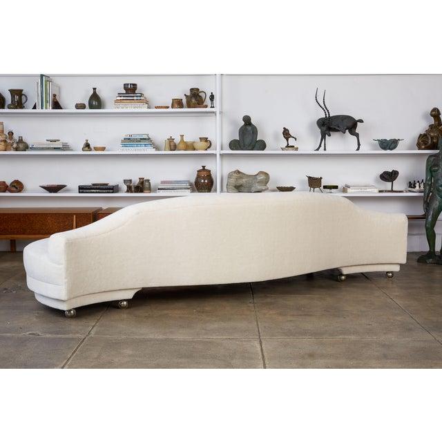 California Modern Serpentine Alpaca Sofa For Sale In Los Angeles - Image 6 of 9