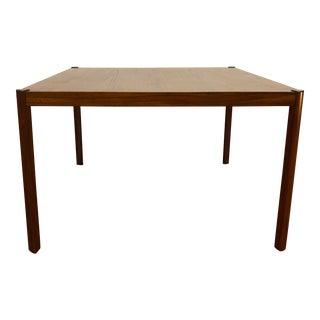 Hans Olsen Teak and Rosewood Corner Table, Made in Denmark For Sale