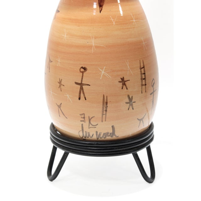 Rare Du Nord Mid-Century Ceramic Lamp For Sale In New York - Image 6 of 6