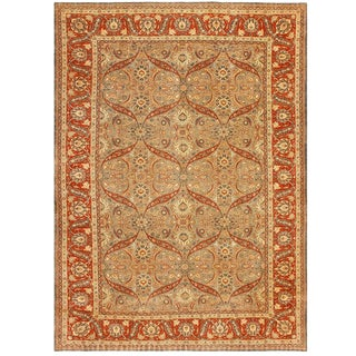 Antique Persian Tabriz Rug - 9′ × 12′ For Sale