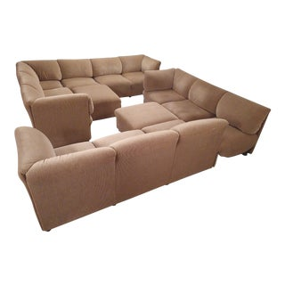 1970s Italian Mario Bellini Wool Sectional For Sale