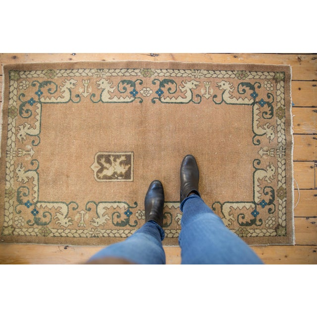 """Old New House Vintage Chinese Rug - 3' X 4'10"""" For Sale - Image 4 of 10"""