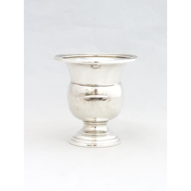 Dunkirk Silversmiths Sterling Champagne Bucket Toothpick Holder. Very elegant with 2 handles.
