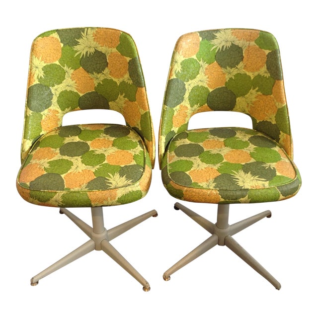 Mid-Century Modern Swivel Chairs- A Pair - Image 1 of 5