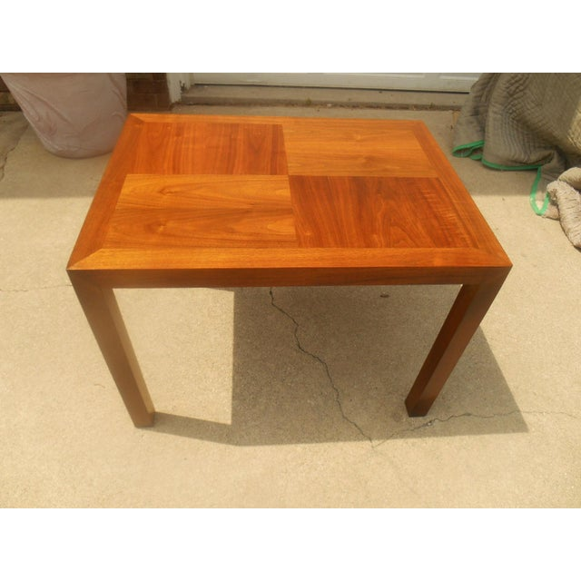 Lane Furniture Lane Mid-Century Parquet Side Table For Sale - Image 4 of 6