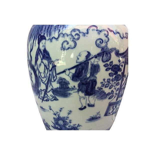 Blue & White Spiral Lid Ginger Jar - Image 5 of 7