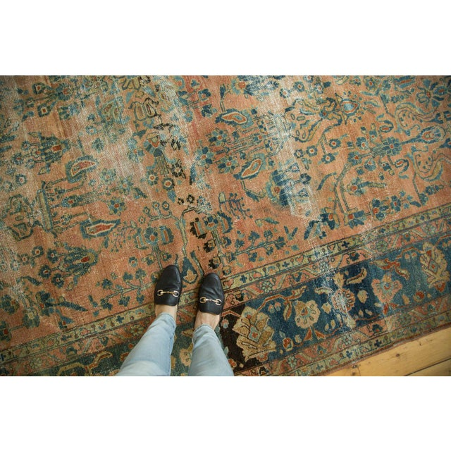 "Antique Distressed Lilihan Carpet - 9' x 11'1"" - Image 2 of 10"
