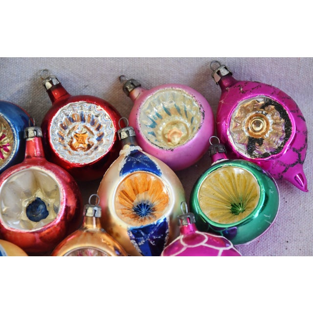 Blue 1950s Vintage Colorful Christmas Ornaments W/Box - Set of 12 For Sale - Image 8 of 10