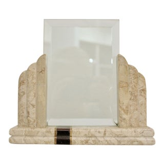 Art Deco Maitland Smith Style Marble Picture Frame For Sale