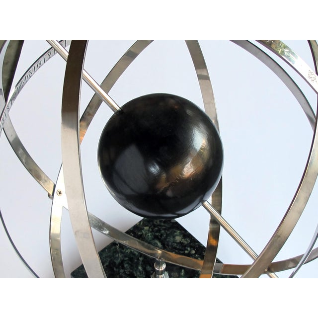 1980s A Large-Scaled and Well-Rendered American 1980's Steel Astrological Zodiac Armillary For Sale - Image 5 of 7