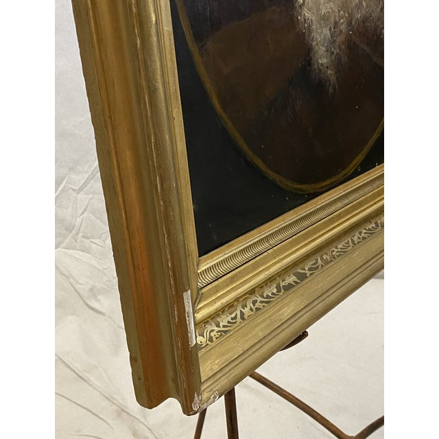 Late 19th Century Antique 19th C. Oil on Canvas Portrait of a Jewish Man Hebrew Beautiful Frame For Sale - Image 5 of 12