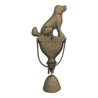 Mid-Century Dog & Bell Door Knocker For Sale