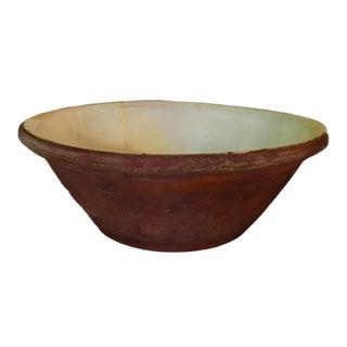 Antique English Yellow Dough Bowl Pancheon For Sale