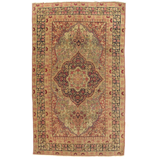 Late 19th Century Late 19th Century Antique Persian Kermanshah Rug - 3′1″ × 6′5″ For Sale - Image 5 of 5