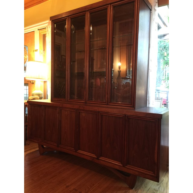 1960s 1960s Mid-Century Modern Walnut Credenza Hutch For Sale - Image 5 of 13