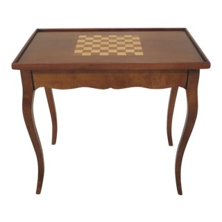 1990s Vintage Italian Walnut Reversible Top Game Table For Sale