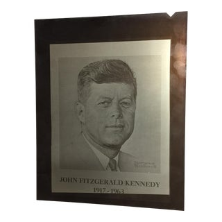 Original Norman Rockwell John F. Kennedy Printing Plate For Sale
