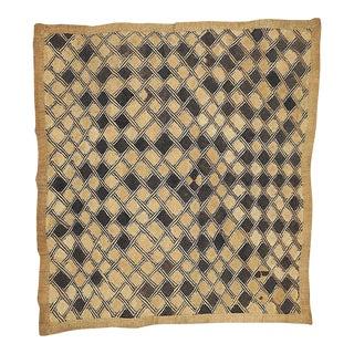 Vintage Handwoven Kuba Textile-African Art-Wall Hanging For Sale