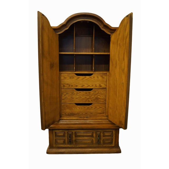 """BASIC WITZ Walnut Spanish Mediterranean 44"""" Armoire Chest 79"""" High 44"""" Wide 21"""" Deep We specialize in High End Used..."""
