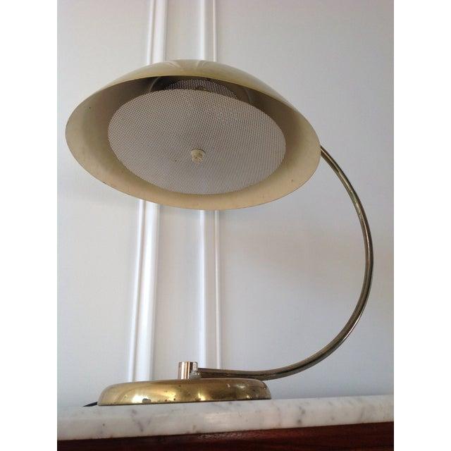 Mid-Century Brass Flying Saucer Desk Lamp - Image 5 of 5