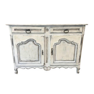 French Antique Louis XV Style Painted Buffet Sideboard For Sale