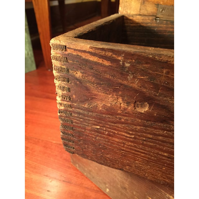 Antique Industrial Pipe Threader & Two Wood Boxes - Image 5 of 7