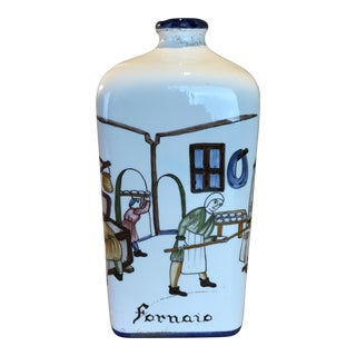 Italian Country Ceramic Vase For Sale