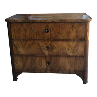 19th Century Biedermeier 3 Drawer Chest For Sale