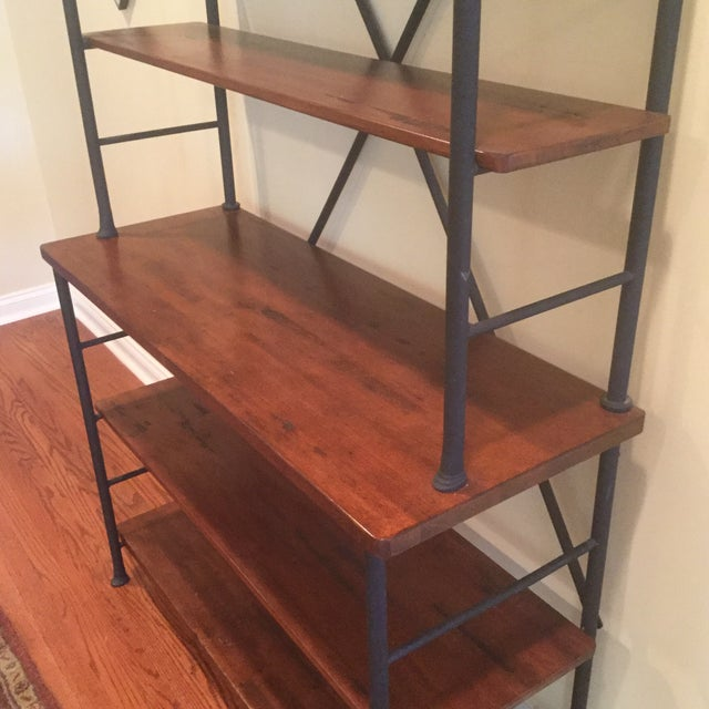 Industrial Metal & Wood Sonoma Bookcase - Image 4 of 4